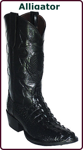 Handmade Exotic Alligator Western Boots