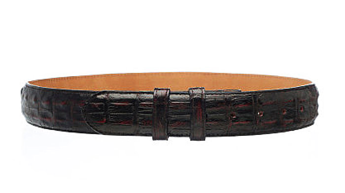 Handmade Crocodile<br>Exotic Belt<br>Buttercup, Chocolate<br>Black, Cognac<br>Black Cherry