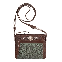 Trail Rider Crossbody / Hip Bags Chestnut Brown / Turquoise