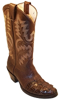 "Hornback Alligator Foot Riding Boot Height 13"" - Brown"