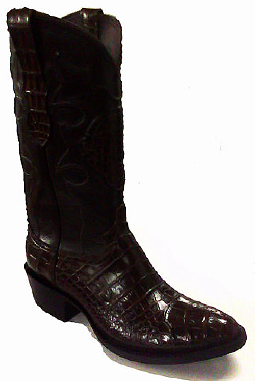 Alligator Belly Cut Exotic Western Boot