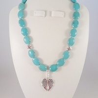 Turquoise Magnesite with a Wing Penant