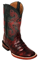 Print Belly Caiman S-Toe Black Cherry