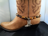 Tiger-eye Stones and a Bling Silver Boot