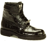Mauri Handmade Commando Body Alligator - Ostrich Leg 4637 Black