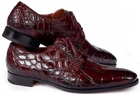 Mauri Palladio Body Alligator Hand Painted 1059 Burnished Ruby Red