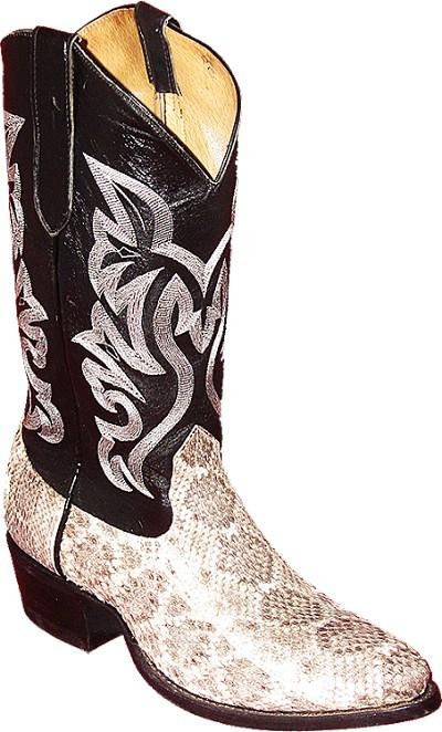 Diamond Back Rattlesnake Black Exotic Western Boot