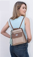 Liz Soto 3247 Gina Backpack/Shoulder Handbag Multiple Colors