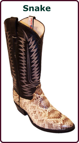 Exotic Snake<br>Cowboy Boots