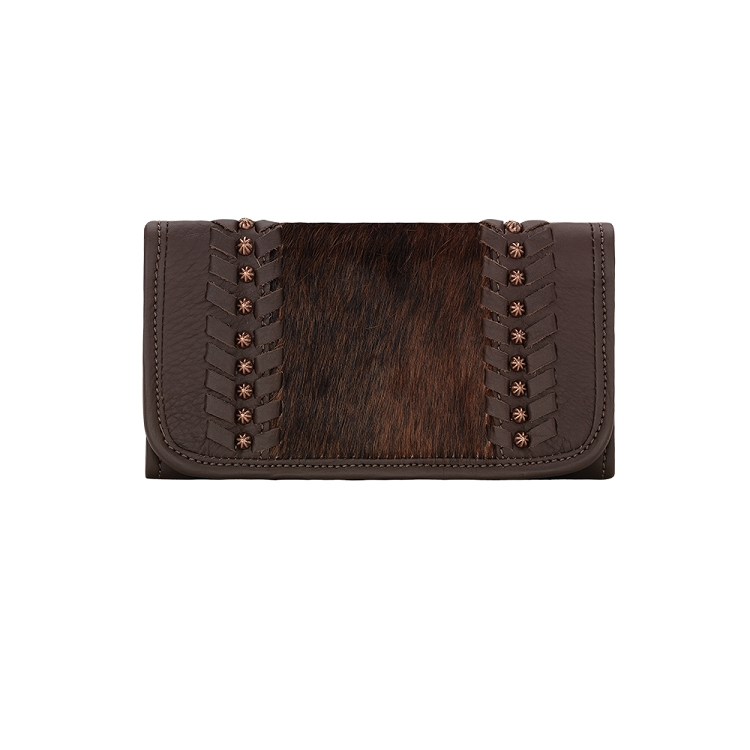 Cow Town Collection Tri-Fold Wallet - 4138282 Chocolate