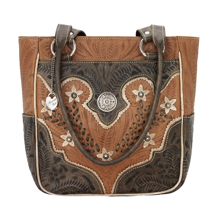 American West Desert Wildflower Collection Zip Top Tote - Multiple Colors