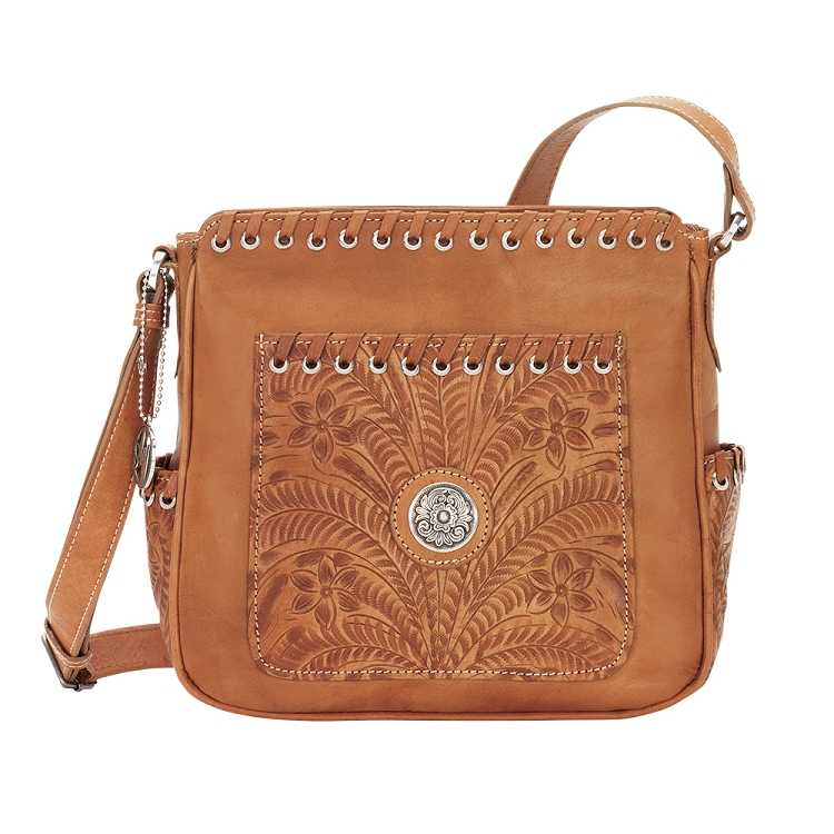 American West Harvest Moon Collection All Access Crossbody Bag - Golden Tan