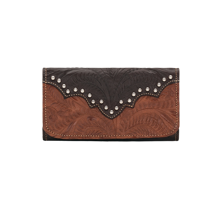 Annie's Secret Tri-Fold Wallet - Antique Brown
