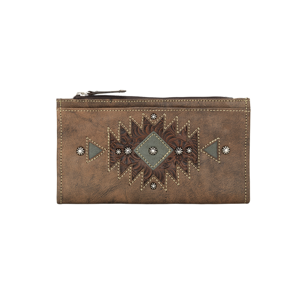Folded Wallet 9983318 - Distressed Charcoal Brown