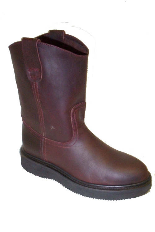 CowTown Burgundy Roper Work Boot Height 11