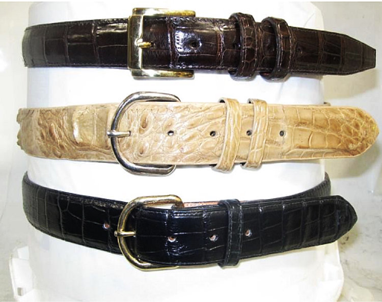 CowTown Men's Alligator Belt's AB200