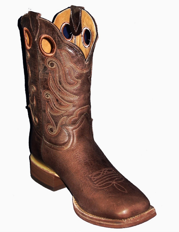 CowTown Western  Square Toe 309Q - Rancher Brown