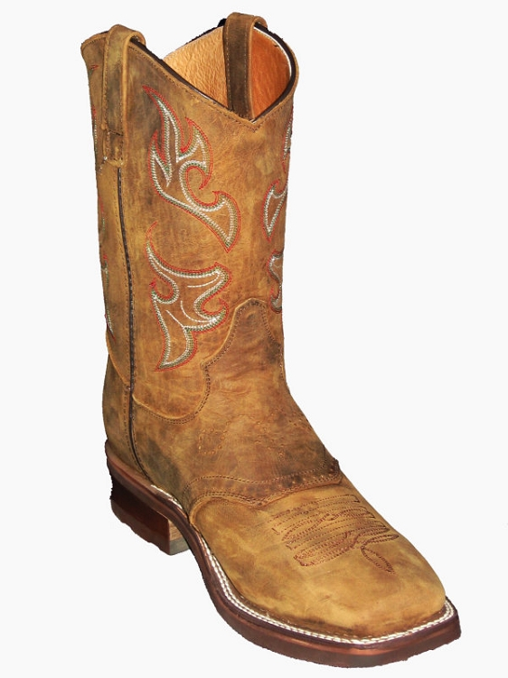 CowTown Western  310Q Square Toe - Rancher Brown