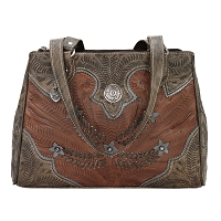 Desert Wildflower Collection Multi-compartment Organizer Tote - Antique Brown