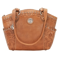 Harvest Moon Collection Zip-Top Bucket Tote - Golden Tan