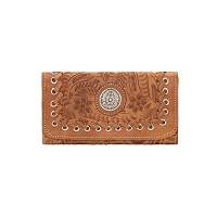 Harvest Moon Collection Tri-Fold Wallet - Golden Tan