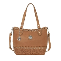 Harvest Moon Collection Convertible Zip Top Tote - Golden Tan