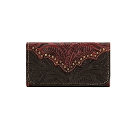 Annie's Secret Tri-Fold Wallet - Distressed Crimson 9150282