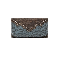 Annie's Secret Tri-Fold Wallet - Denim Blue