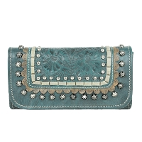 Blue Ridge Tri-Fold Wallet Dark Turquoise