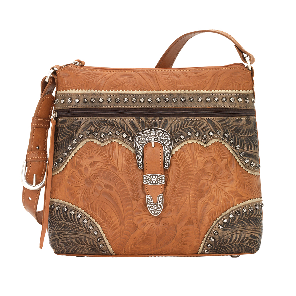 American West Saddle Ridge Zip Top Shoulder Bag in Multiple Colors