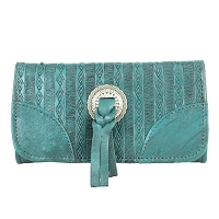 Southern Style Basket Weave Collection Tri-Fold Wallet - Multiple Colors