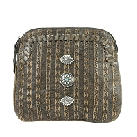 Southern Style Basket Weave Collection Multi-Compartment Crossbody - Multiple Colors