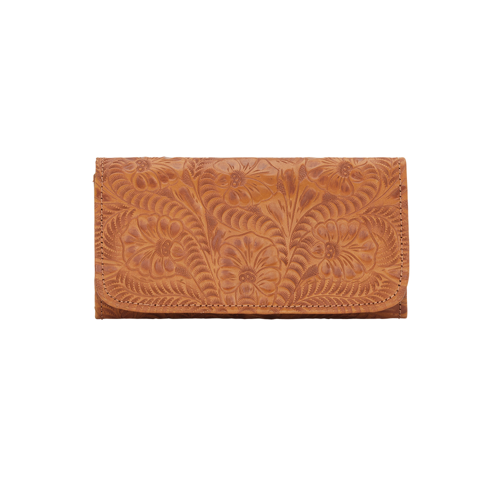 Annie's Secret Tri-Fold Wallet - Golden Tan