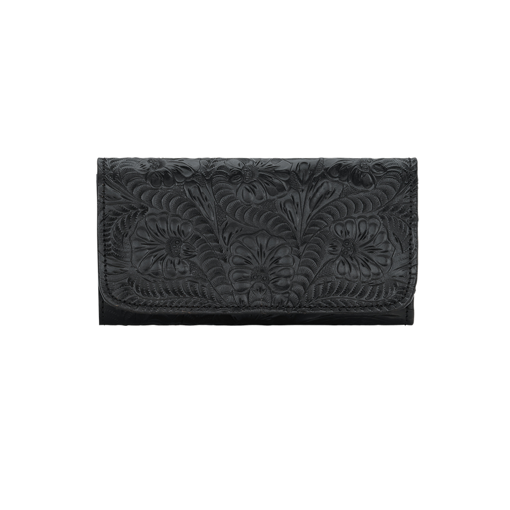 Annie's Secret Tri-Fold Wallet - Black