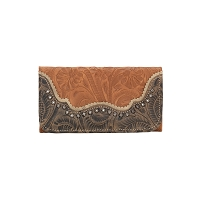 Saddle Ridge Tri-Fold Wallet Golden Tan
