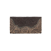 Saddle Ridge Tri-Fold Wallet Chocolate