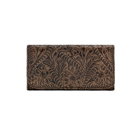 Annie's Secret Tri-Fold Wallet - Distressed Charcoal Brown