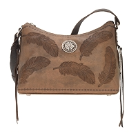 American West Sacred Bird Zip Top Shoulder Bag in Multiple Colors