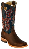 BT-101 Brown Cowhide Star Square Toe 13