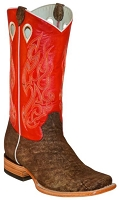 BT-102 Brown Cowhide Red Top Square Toe 13
