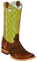 BT-103 Rust/Brown Rough Out Cowhide Square Toe 13