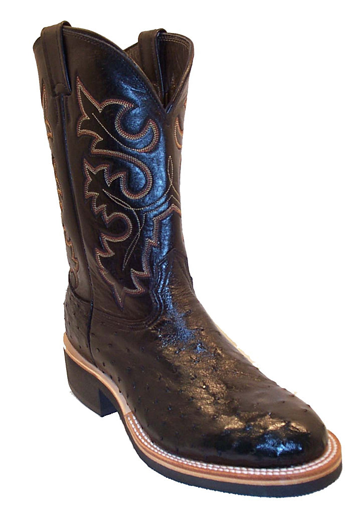 CowTown Ostrich Full Quill Roper Crepe Sole Height 10