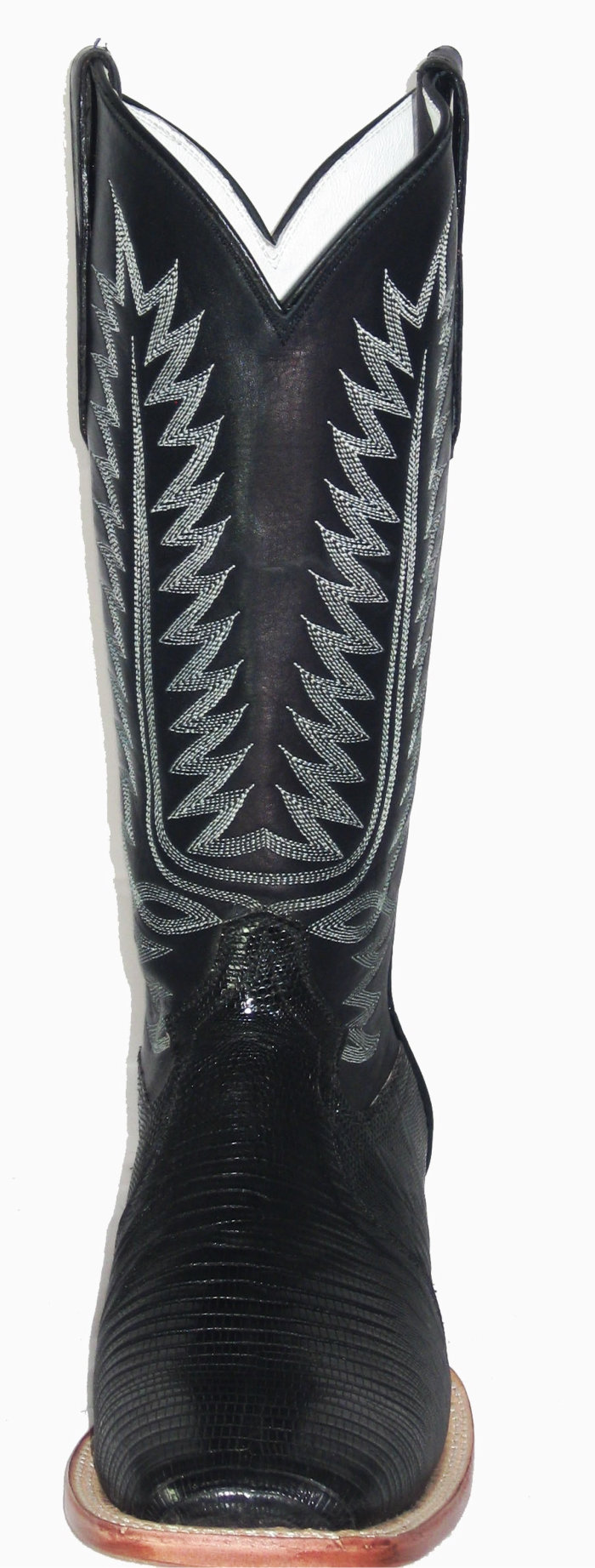 7a08b99efb8 Black Lizard Square Toe Height 13