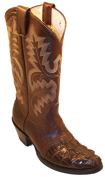 CowTown Hornback Alligator Riding Boot Height 13