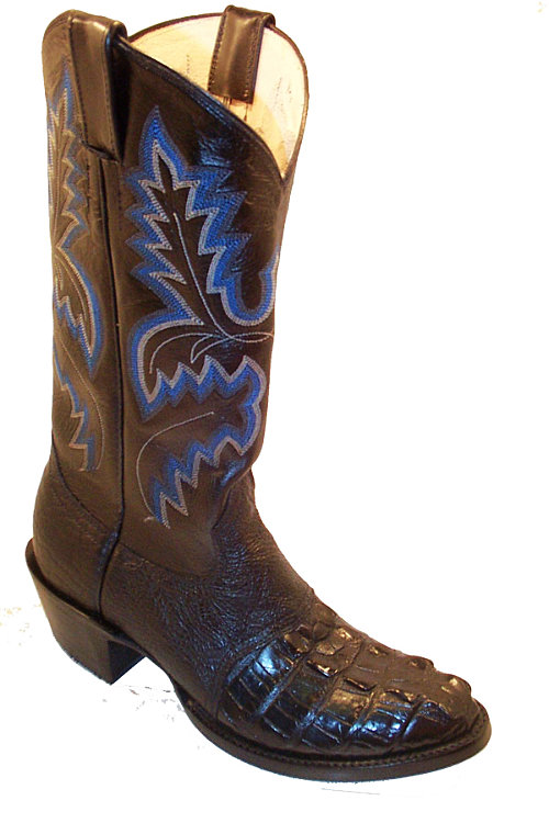 CowTown Hornback Alligator Foot Riding Boot Height 13