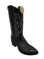 CowTown Caiman Crocodile Vamp - Black