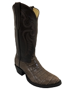 CowTown Caiman Crocodile Vamp - Brown