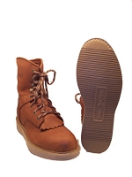 Natural Lace-Up Work Boot 834