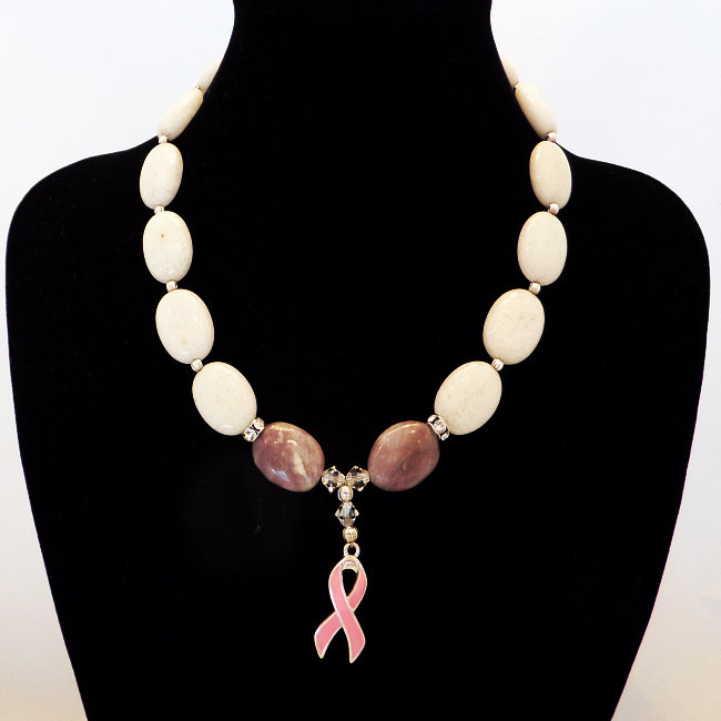 White & Pink Agate Stone 16