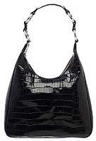 Alligator Link Ferrini Purse in Chocolate & Black